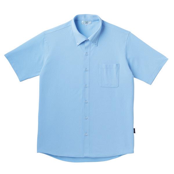 【メーカーカタログ】 トンボ キラク リュクス ニットシャツ サックス L CR162-70 1枚  (取寄品)