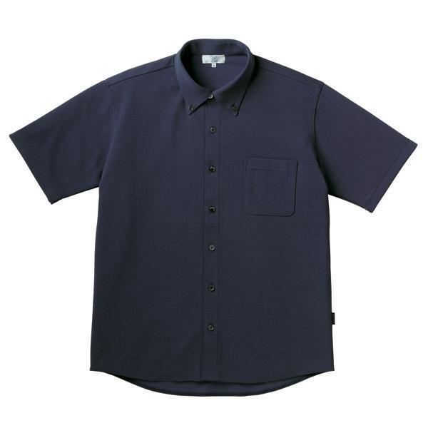 【メーカーカタログ】 トンボ キラク リュクス ニットシャツ ネイビー M CR162-89 1枚  (取寄品)