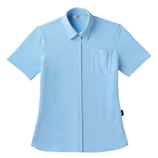 【メーカーカタログ】 トンボ キラク レディスニットシャツ サックス L CR163-70 1枚  (取寄品)