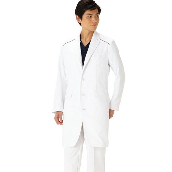 【メーカーカタログ】 サンペックスイスト ドクターコートXMー001 ホワイト M XM-001-WH 1枚  (取寄品)