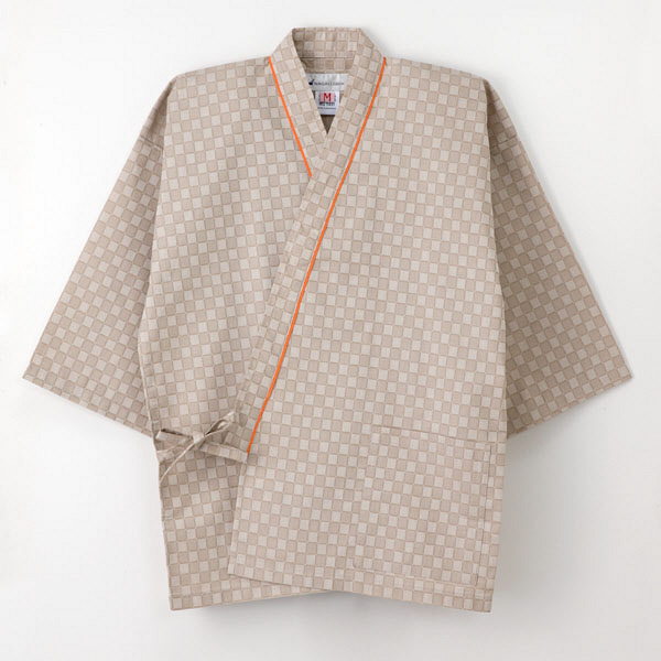 【メーカーカタログ】ナガイレーベン 患者衣じんべい型 ベージュ EL EL RG-1451 1枚  (取寄品)