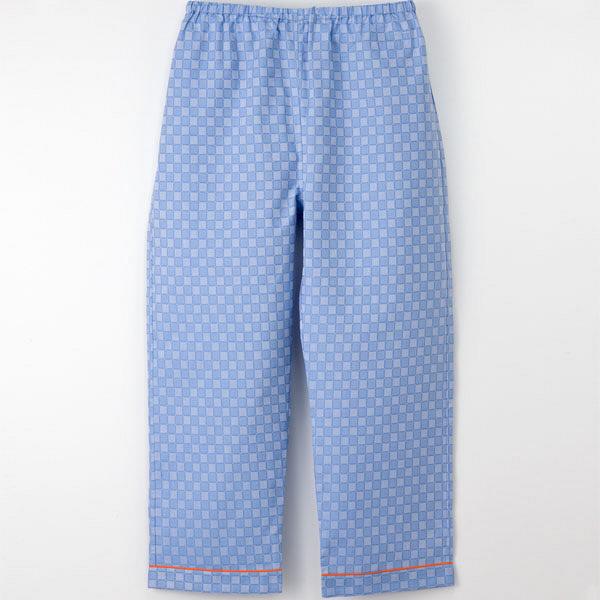 【メーカーカタログ】ナガイレーベン 患者衣ズボン ブルー L RG-1453 1枚  (取寄品)