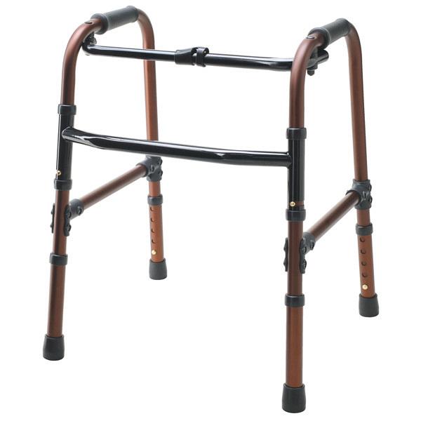 大人用歩行器 テツコーポレーション 超低床固定式歩行器ホームタイプ T-5021 モカブラウン (取寄品)