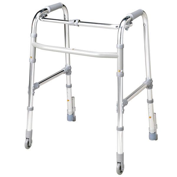 大人用歩行器 テツコーポレーション 固定型歩行器キャスター・ストッパー付 Aタイプ (取寄品)