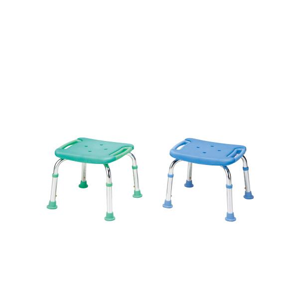 シャワーチェア コンパクトミニDX 背もたれなし T-6301-5 ペパーミントブルー テツコーポレーション (取寄品)