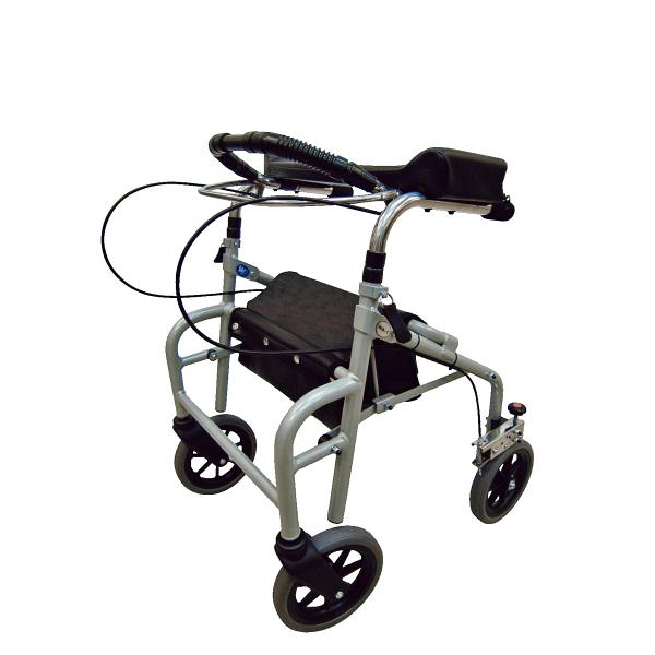 歩行車 ウェルパートナーズ ラビット座面なしタイプ(スモール/狭幅・低台) WA-1 シルバー (取寄品)