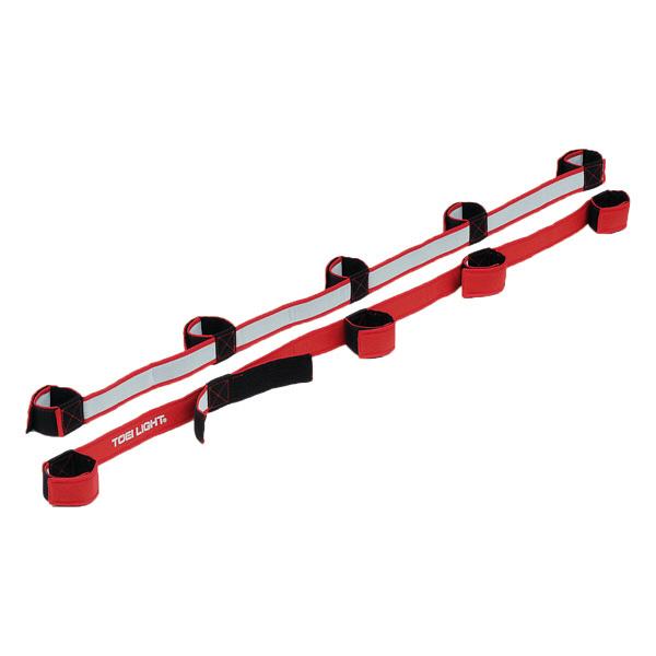 トーエイライト むかでロープDX5 赤 B3384R 1セット(2本×2組入) (取寄品)