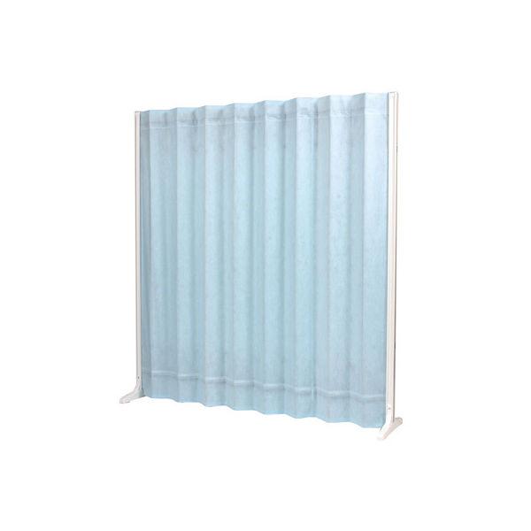 三和製作所 折畳スクリーン 高さ1650mm ブルー (直送品)