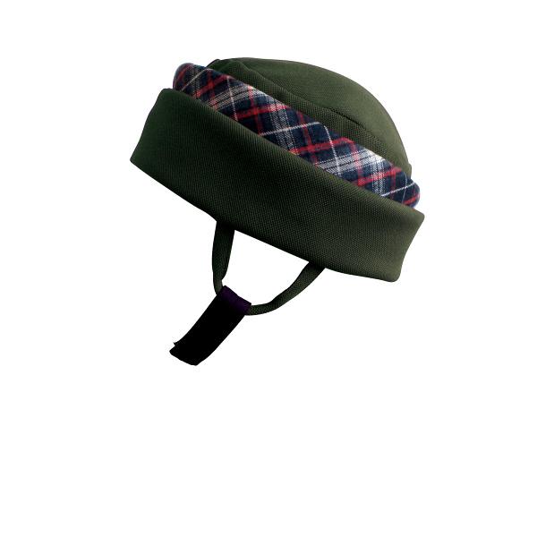 特殊衣料アボネットガードF(全周囲型) 2101 オリーブ(赤チェック) (取寄品)