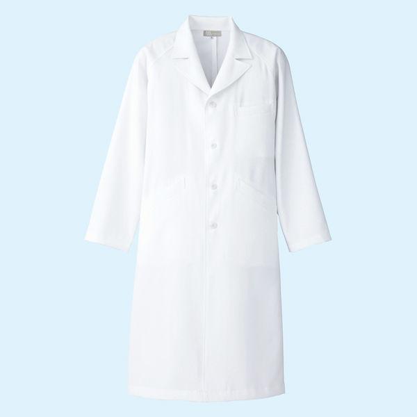 AITOZ(アイトス) メンズドクターコート(診察衣) 長袖 シングル ホワイト 3L 861311 (直送品)