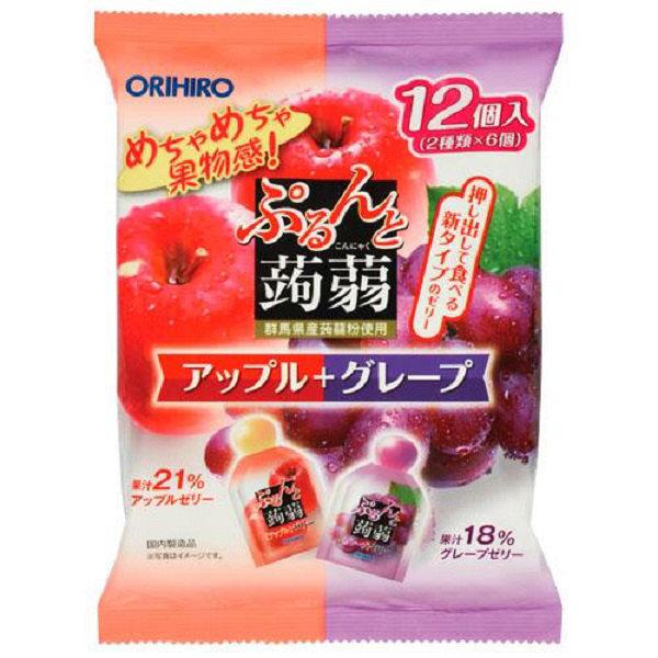 ぷるんと蒟蒻ゼリー アップル+グレープ