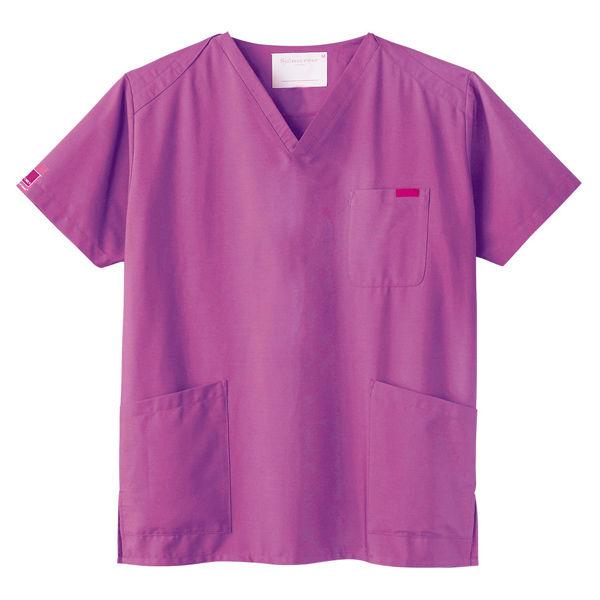 フォーク 医療白衣 カラースクラブ(男女兼用) 7000SC-20 ラディアントオーキッド LL