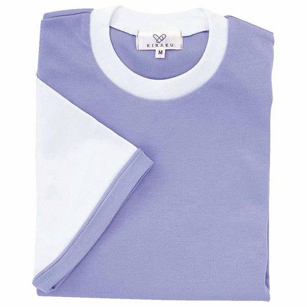 トンボ キラク Tシャツ ラベンダー  L CR021-80 1枚  (取寄品)