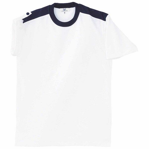トンボ キラク 入浴介助用シャツ ホワイト L CR034-01 1枚  (取寄品)