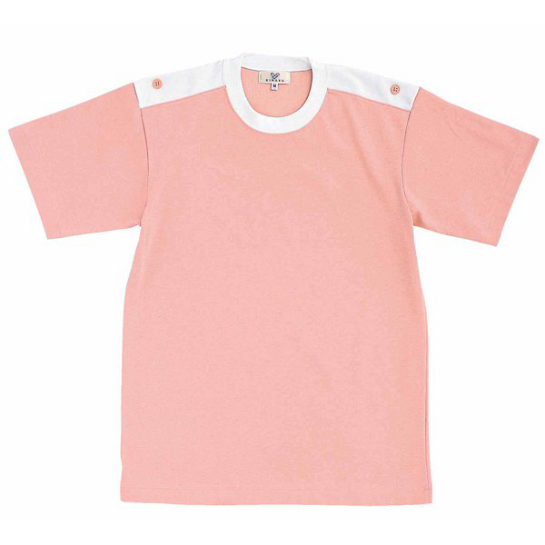 トンボ キラク 入浴介助用シャツ オーキッドピンク L CR034-13 1枚  (取寄品)