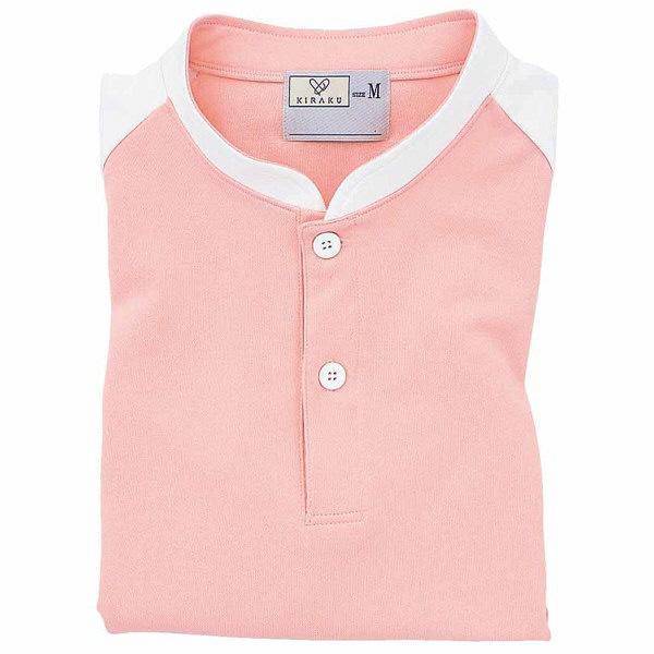 トンボ キラク ケアワークシャツ オレンジピンク SS  SS CR060-12 1枚  (取寄品)
