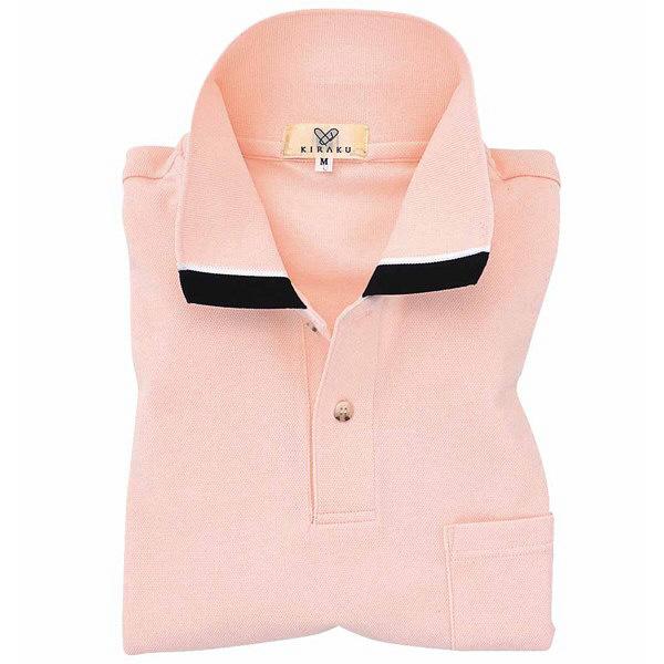 トンボ キラク ポロシャツ  オレンジピンク  SS  SS CR072-12 1枚  (取寄品)