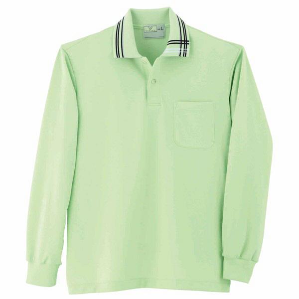 トンボ キラク 長袖ポロシャツ  ライム  M   M CR116-37 1枚  (取寄品)