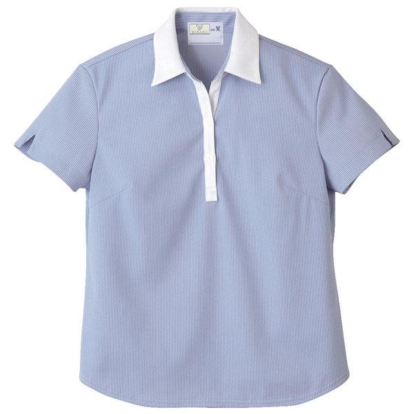 トンボ キラク レディス ニットシャツ  ブルー  S CR122-75 1枚  (取寄品)