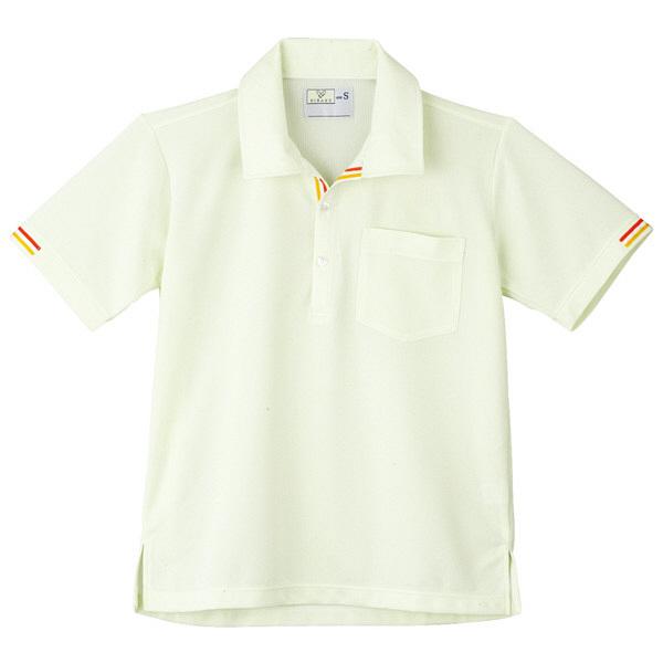 トンボ キラク ニットシャツ  白×イエローグリーン SS CR127-41 1枚  (取寄品)