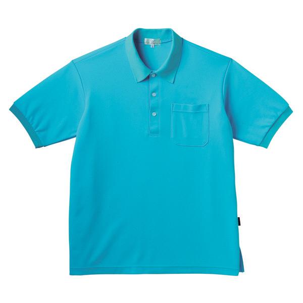 トンボ キラク ポロシャツ  ブルー SS CR164-75 1枚  (取寄品)
