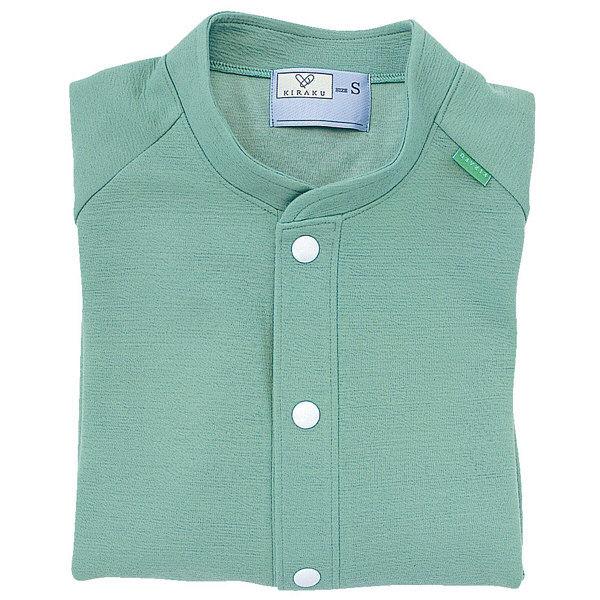 トンボ キラク 前開きニットシャツ エメラルドグリーン S CR805-46 1枚  (取寄品)