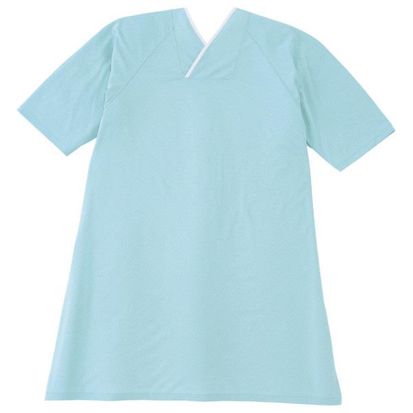 トンボ キラク カバーリングシャツ サックス フリー フリーサイズ CR815-70 1枚  (取寄品)