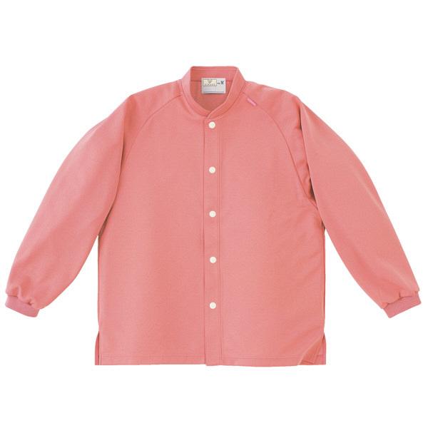 トンボ キラク 前開きニットシャツ ピンク  M CR818-14 1枚  (取寄品)