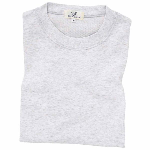 トンボ キラク Tシャツ シルバー杢  L CR003-03 1枚  (取寄品)