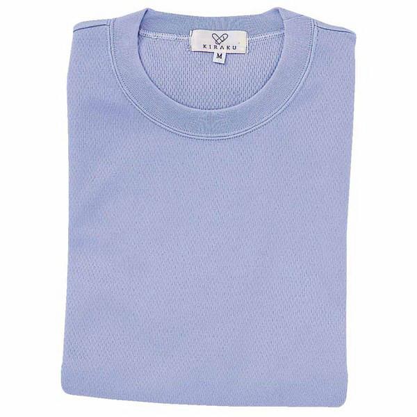 トンボ キラク Tシャツ ラベンダーブルー  L CR003-80 1枚  (取寄品)