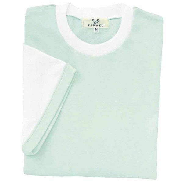 トンボ キラク Tシャツ ミント  3L CR021-40 1枚  (取寄品)