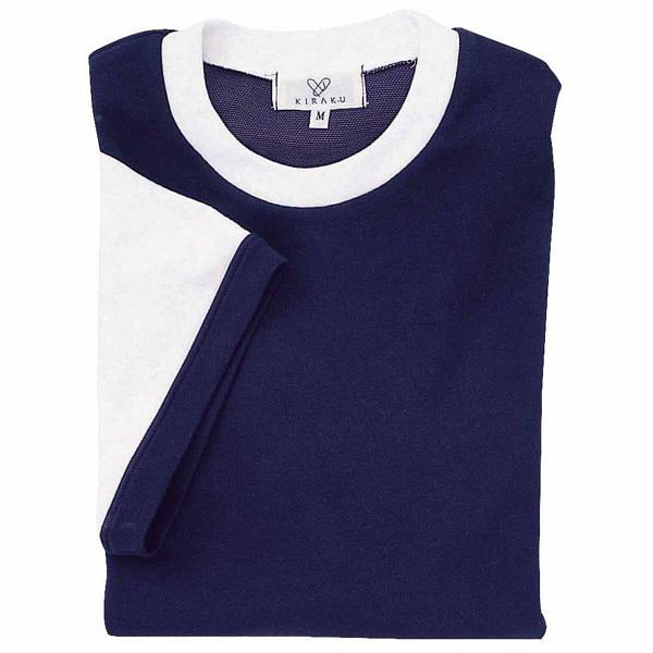 トンボ キラク Tシャツ ネイビー  L CR021-88 1枚  (取寄品)
