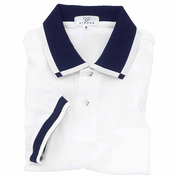 トンボ キラク 消臭ポロシャツ  白 LL CR023-01 1枚  (取寄品)