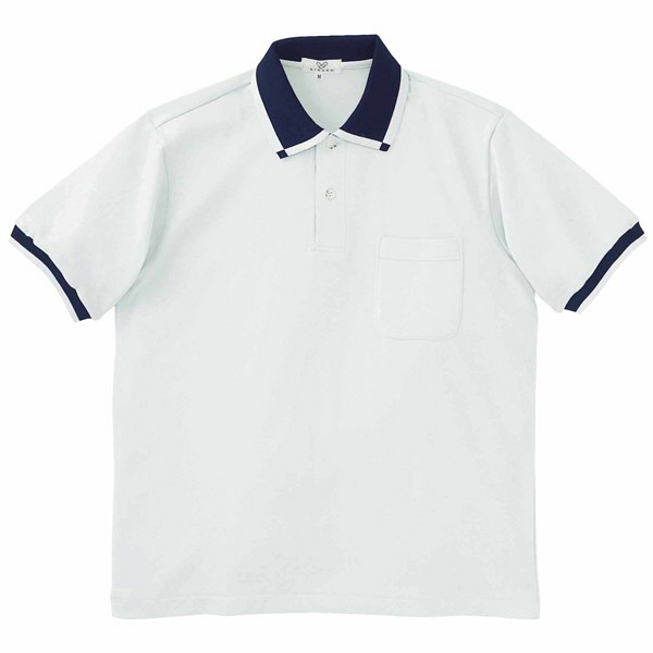 トンボ キラク 消臭ポロシャツ  シルバーグレー L CR023-03 1枚  (取寄品)