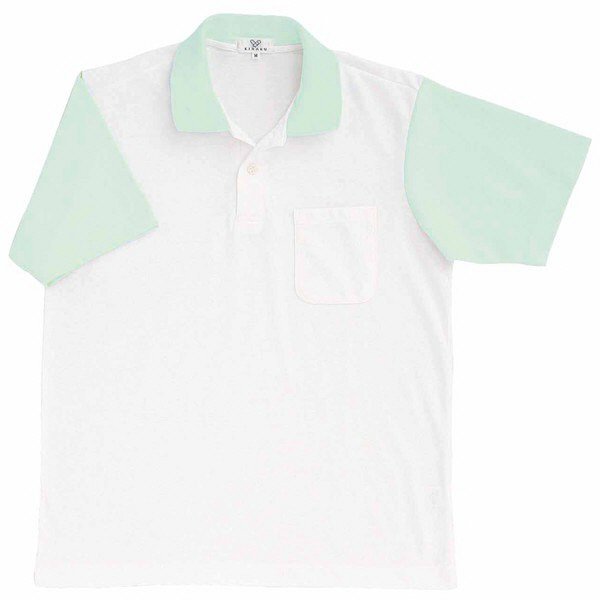 トンボ キラク ポロシャツ  白×ミント 3L CR024-40 1枚  (取寄品)