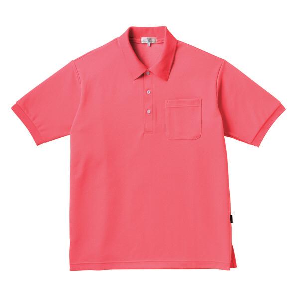 トンボ キラク ポロシャツ  ピンク L CR164-14 1枚  (取寄品)