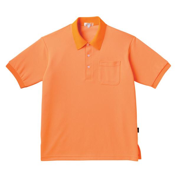 トンボ キラク ポロシャツ  オレンジ LL CR164-59 1枚  (取寄品)