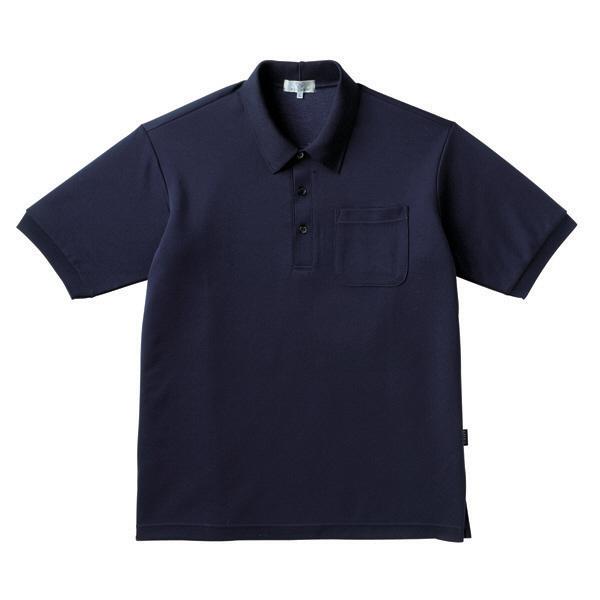 トンボ キラク ポロシャツ  ネイビー L CR164-89 1枚  (取寄品)