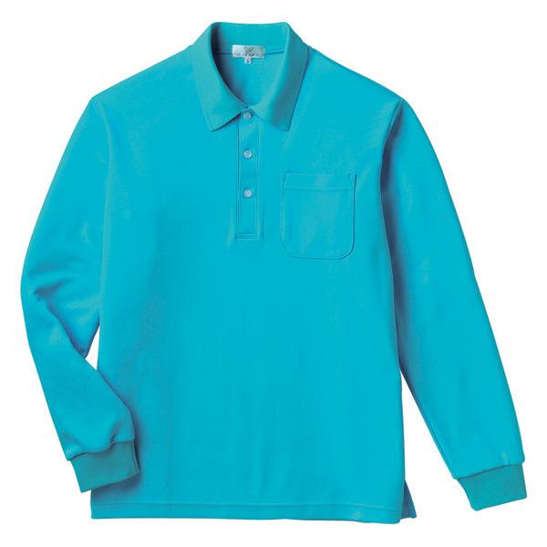 トンボ キラク 長袖ポロシャツ  ブルー LL CR165-75 1枚  (取寄品)