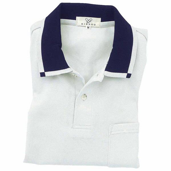 トンボ キラク 消臭長袖ポロシャツ  シルバーグレー LL CR033-03 1枚  (取寄品)