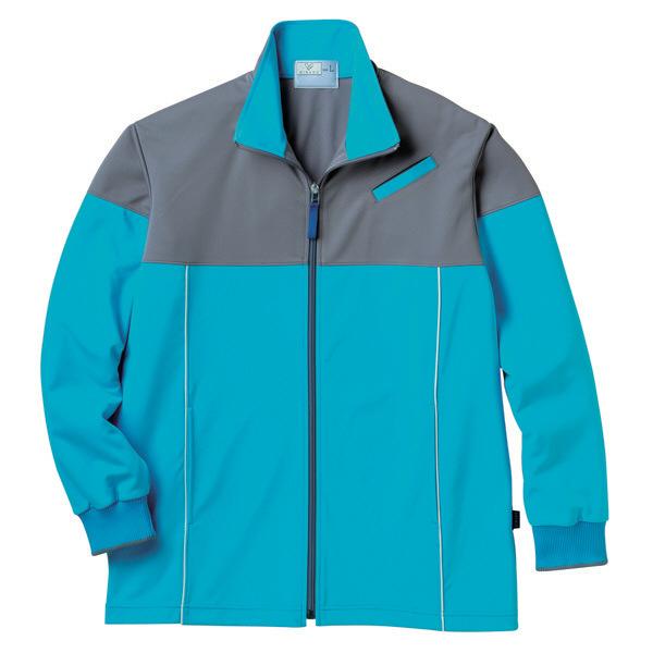トンボ キラク ケアワークジャケット ブルー L CR167-76 1枚  (取寄品)