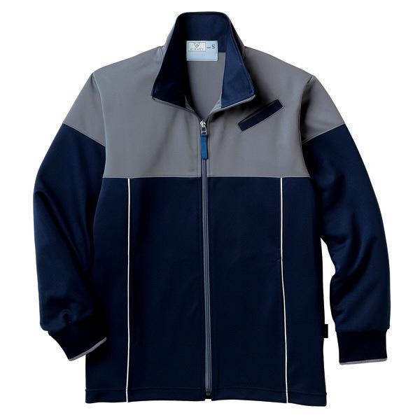 トンボ キラク ケアワークジャケット ネイビー LL CR167-88 1枚  (取寄品)