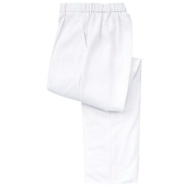 トンボ キラク ケアワークパンツ ホワイト L CR630-01 1枚  (取寄品)