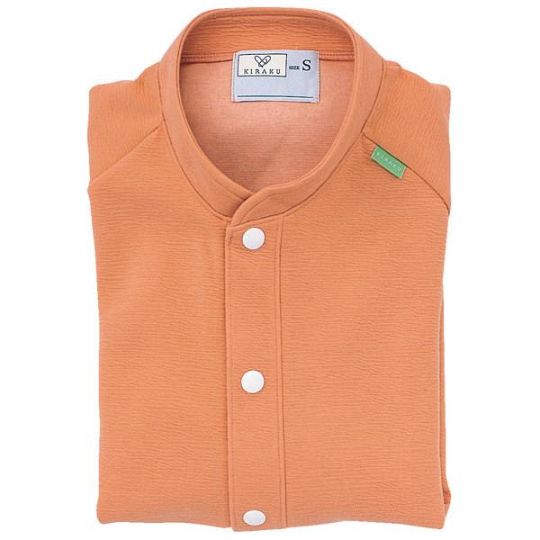 トンボ キラク 前開きニットシャツ サーモンピンク M CR805-12 1枚  (取寄品)