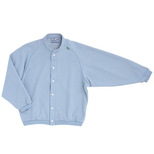 トンボ キラク 前開きニットシャツ インクブルー L CR805-76 1枚  (取寄品)