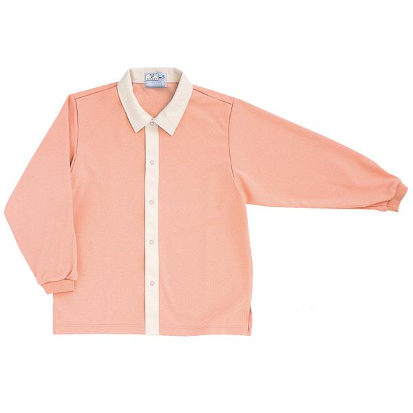 トンボ キラク 前開きニットシャツ オレンジピンク M  M CR809-13 1枚  (取寄品)