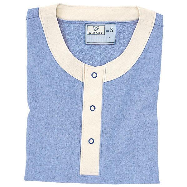 トンボ キラク 半袖ニットシャツ ラベンダー L  L CR811-83 1枚  (取寄品)