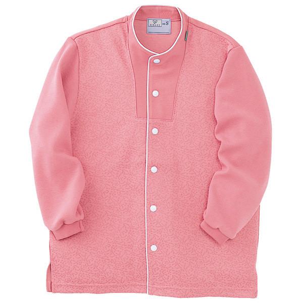 トンボ キラク 前開きニットシャツ ピンク L  L CR813-14 1枚  (取寄品)