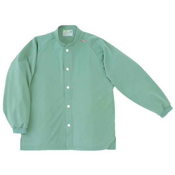 トンボ キラク 前開きニットシャツ グリーン  L CR818-46 1枚  (取寄品)