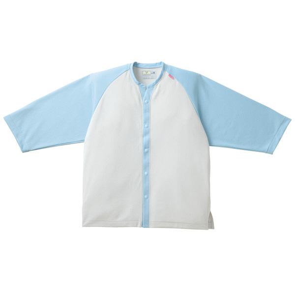 トンボ キラク ニットシャツ   サックス   LL CR821-70 1枚  (取寄品)